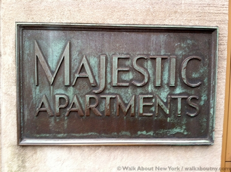 The Majestic, Central Park West, Central Park Walking Tour, Irwin Chanin, Art Deco, Majestic Apartments,