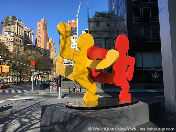 Walk About New York, Downtown Manhattan Walking Tour, Charging Bull, Wall Street, Lower Manhattan, New Amsterdam, State Street, Dancers, Keith Haring