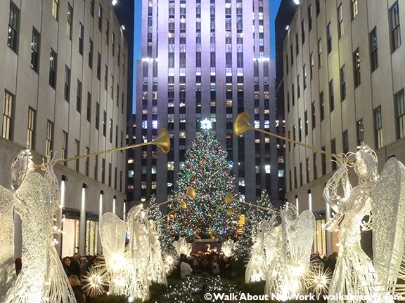 Christmas, New York, Rockefeller Center, Window Display