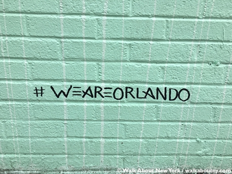 Gay Pride, We Are Orlando, The L.I.S.A. Project, Mural, Gay Village Walking Tour, Walk About New York
