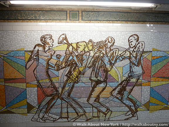Subway Art Tour Three, Subway Art, New York, Subway, Walk About New York, Walking Tours, Guided Walking Tours, Valerie Maynard, Polyrhythmics of Consciousness and Light, 2003, Glass Mosaic