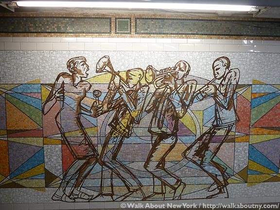 Subway Art Tour Three, Subway Art, New York, Subway, Walk About New York, Walking Tours, Guided Walking Tours, Valerie Maynard, Polyrhythmics of Consciousness and Light, 2003, Glass Mosaic