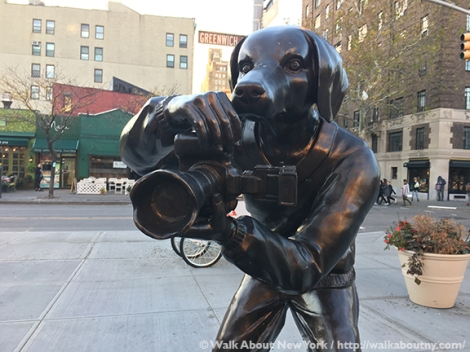 Paparazzi Dogs, Gillie and Marc, Greenwich Village, Ruth Wittenberg, Triangle, Greenwich Village Walking Tour, Bronze Sculpture, Art, Australia, Sydney, Melbourne, Dogs