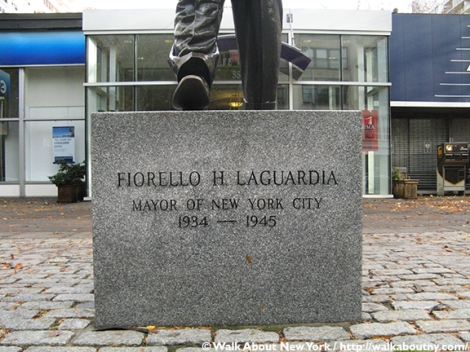 Fiorello La Guardia, La Guardia Place, South Village, Walk About New York, Greenwich Village, Neil Estern, Sculpture, Art