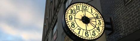 Clocks, Time, Street Clocks, Public Clocks, Save America's Clocks, Downtown Manhattan Walking Tour, Five Squares and a Circle Tour, Sidewalk Clocks
