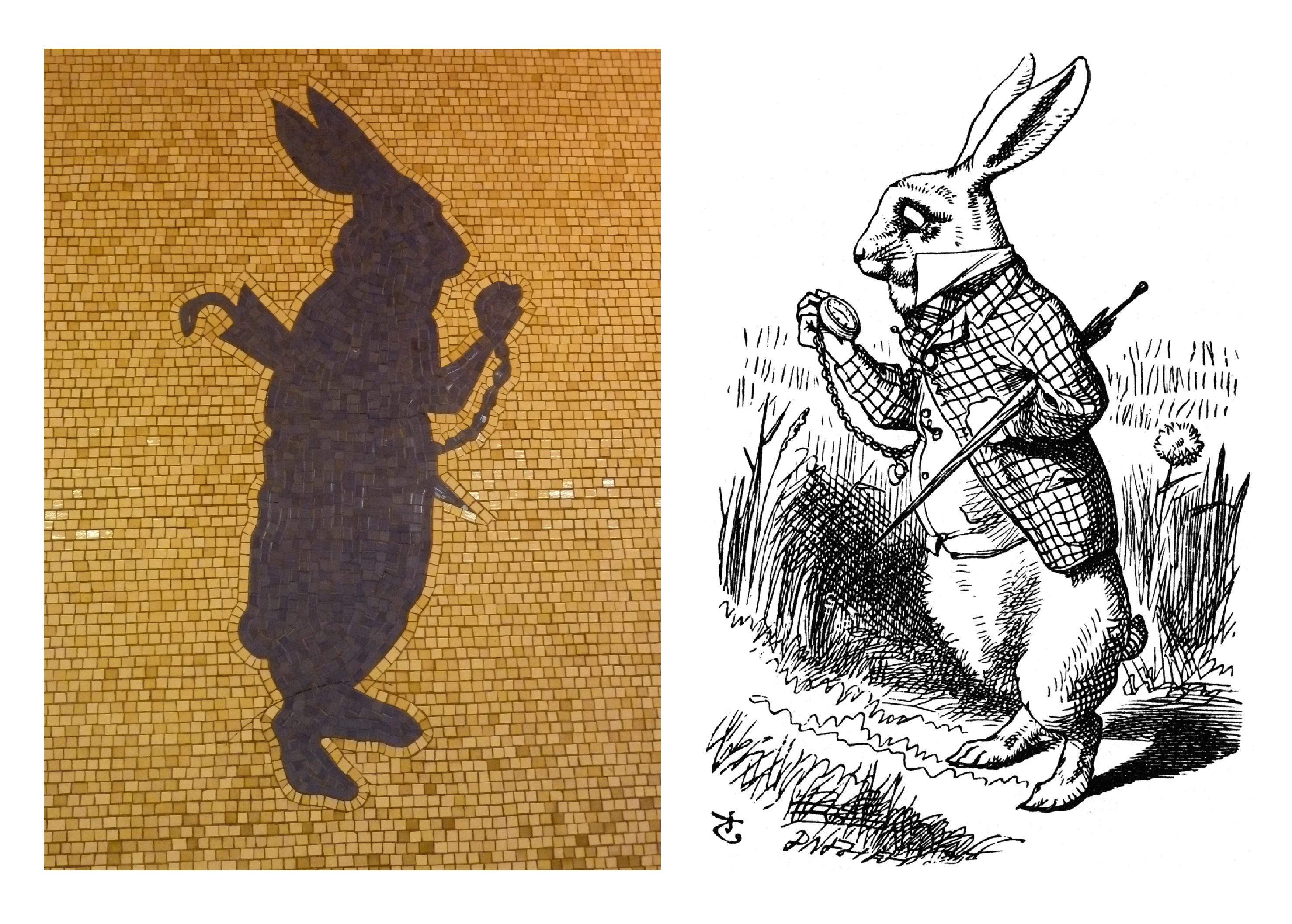 Alice Amp Her Wonderland Pals As Subway Art Walkaboutny