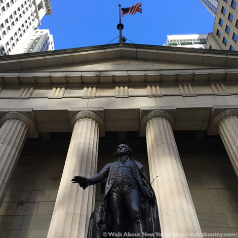 George Washington, Inauguration, Federal Hall, Downtown Manhattan Walking Tour, Downtown Manhattan, Wall Street, John Quincy Adams Ward, Walk About New York