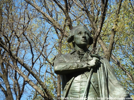 Marquis de Lafayette, Five Squares and a Circle Tour, Union Square, Fourth of July, July 4th, Revolutionary War, Frédéric-Auguste Bartholdi, France