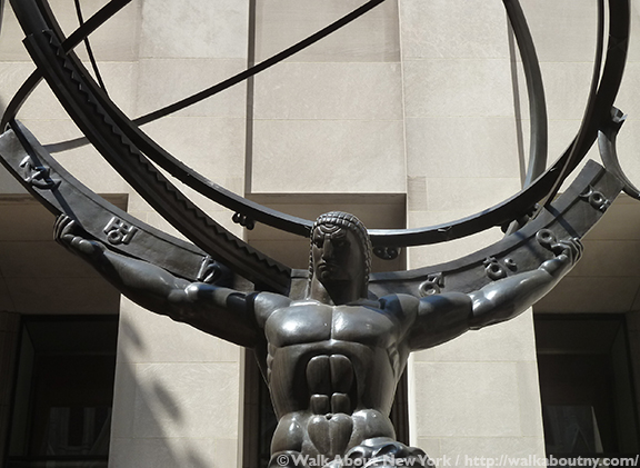 Rockefeller Center Art Tour, 30 Rock, Rockefeller Center, Fifth Avenue, Mercury, Atlas, Chanel Gardens, Art Deco, John D. Rockefeller Jr., 1930s, Prometheus