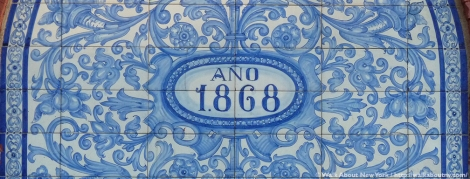 88 Perry Street, Little Spain, Perry Street, Greenwich Village, Bleecker Street, azulejo, tiles, 1868, Greenwich Village Walking Tour, mural, Landmarks Preservation Commission, Walk About New York, Spain