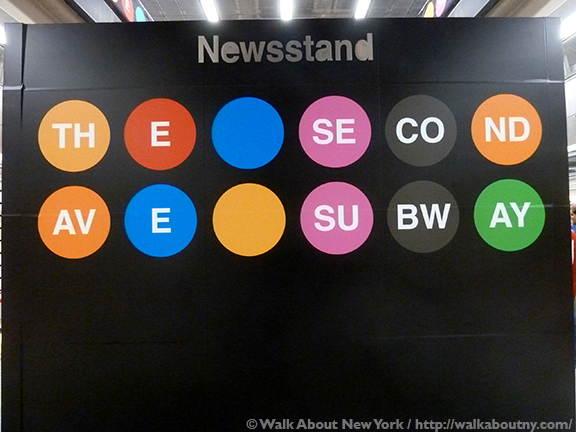 Subway Art, Walk About New York, Walking Tour, Vik Muniz, Chuck Close, Jean Shin, Sarah Sze, Second Avenue Subway, New York City, New York Subway,