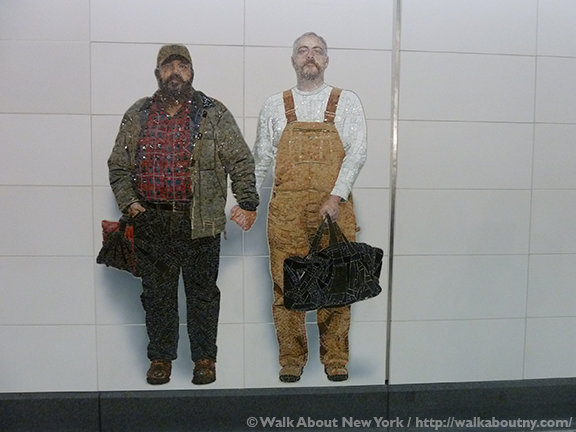 Subway Art, Walk About New York, Walking Tour, Vik Muniz, Chuck Close, Jean Shin, Sarah Sze, Second Avenue Subway, New York City, New York Subway,