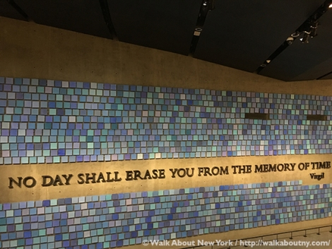 9/11, 9/11 Museum, 9/11 Memorial, September 11th 2001, World Trade Center, Twin Towers, North Tower, South Tower, FDNY Ladder Company 3, Downtown Manhattan Walking Tour, St. Paul's Chapel, One World Trade Center, Virgil, Quote
