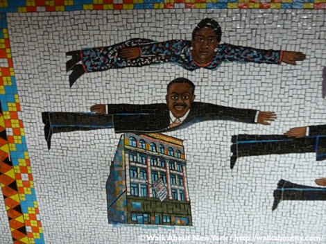 Subway Art, Walk About New York, Walking Tour, Faith Ringgold, Harlem, Studio Museum, Jacob Lawrence, Yankee Stadium, Sugar Ray Robinson, Joe Lewis, Cotton Club, Apollo Theater, Duke Ellington, Josephine Baker, Bessie Smith, The Ink Spots, Marian Anderson, Paul Robeson, Flying Home: Harlem Heroes and Heroines, Lionel Hampton, Dinah Washington, Ralph Cooper, Billie Holiday