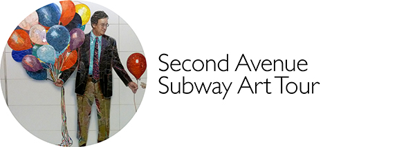 Subway Art, Walk About New York, Second Avenue, Chuck Close, Vik Muniz