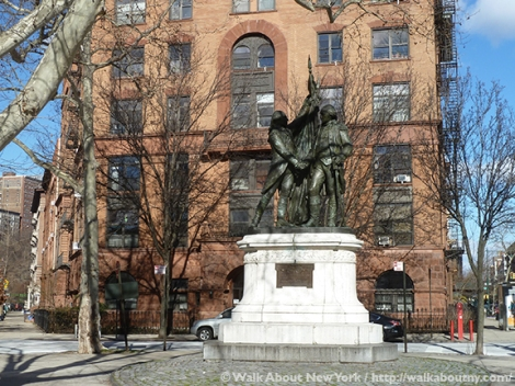 George Washington, Marquis de Lafayette, Morningside Park, Lafayette Square, Frédéric-Auguste Bartholdi, Walk About New York, Morningside Heights,