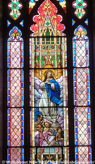 Basilica of St. Patrick's Old Cathedral, St. Patrick's Old Cathedral, Basilica, Mott Street, Prince Street, Old St. Pat's, Little Italy, Stained Glass, Stained Glass Windows