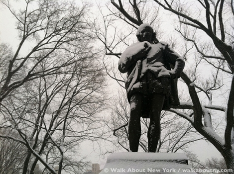 American Art, Bronze Sculpture, Central Park, Walk About New York, Central Park Walking Tour, Edwin Booth, John Quincy Adams Ward, John Wilkes Booth, Literary Walk, Shakespeare Garden, William Shakespeare