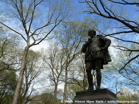 American Art, Bronze Sculpture, Central Park, Walk About New York, Central Park Walking Tour, Edwin Booth, John Quincy Adams Ward, John Wilkes Booth, Literary Walk, Shakespeare Garden, William Shakespeare