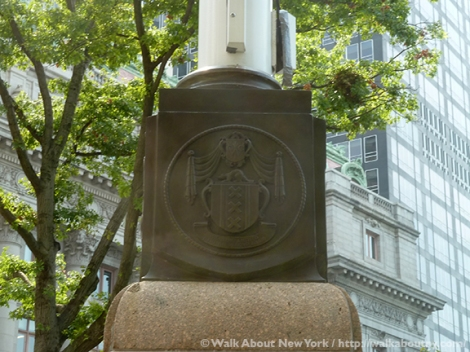 New Amsterdam, New York, New Netherlands, Dutch, Flagpole, Flagstaff, Tercentenary, State Street, Battery Place, The Battery, The Netherlands, Wall Street, Downtown Manhattan, Downtown Manhattan Walking Tour, Henry Hudson, Coat of Arms, Walking Tours, Amsterdam, Coat of Arms