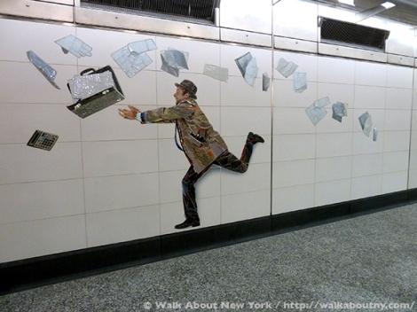 Subway Art, Walk About New York, Walking Tour, Vik Muniz, Perfect Strangers, MetroCard, Metropolitan Transportation Authority, MTA, Art Underground, Big Apple, Second Avenue Subway, Second Avenue, Andrew Cuomo, New York State Governor, Gay Representation, Photographs, Mosaics, Glass Mosaics, Mosaic Art, Percent for Art