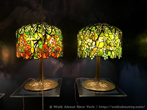 Tiffany, Tiffany Lamps, Louis Comfort Tiffany, New-York Historical Society, Lamps, Historic Collection, Museum, Central Park West, New York, Manhattan, Upper West Side, Stained Glass, Opalescence, Glass, Brass, Bronze, Daffodil, Bamboo, Birthday