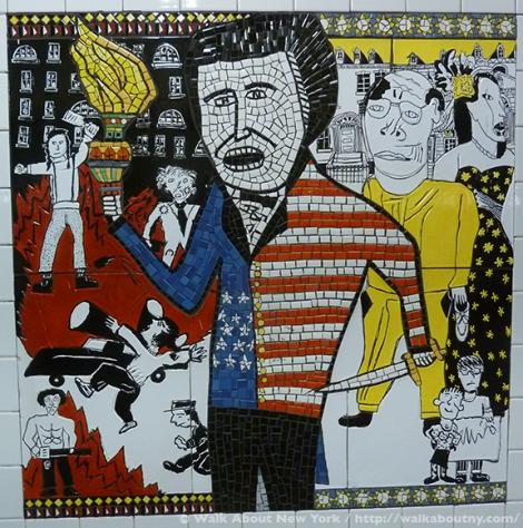 Subway Art, Art Underground, Walking Tours, Greenwich Village, Christopher Street, Lee Brozgol, Mosaic Art, Ceramic Art, Bohemians, Founders, Providers, Rebels, Mabel Dodge, Marcel Duchamp, John Reed, Thomas Paine, Emma Goldman, Gertrude Vanderbilt Whitney, Whitney Museum of American Art, Children's Art, P.S. 41,