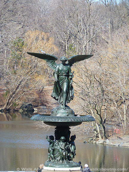 Bethesda, Angel, Lesbian, Emma Stebbins, Charlette Cushman, Breast Cancer, Central Park, Angels in America, Angels, Bethesda Fountain, Bethesda Terrace, The Lake, The Ramble, Bible, Angel of the Waters, Sculpture, Bronze, Henry Stebbins, Henry James, Rome, Marble Sculpture, New York, New York Stock Exchange, 19th Century, LGBTQ, LGBT, Gay Pride, Stonewall