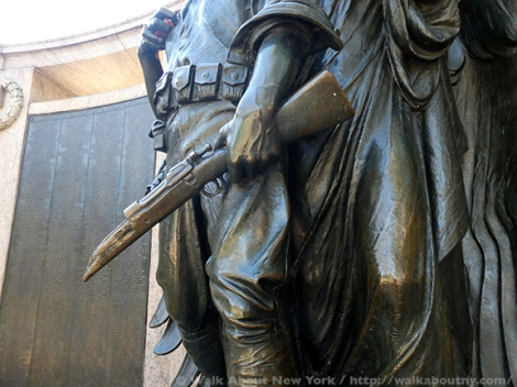 Armistice Day, Bronze, Bronze Sculpture, Veterans, World War One, World War I, Veterans Day, Henry Augustus Lukeman, Prospect Park, War Memorials, November 11th, War, American Holiday, War Dead, War Casualties, Honor Roll, Brooklyn,