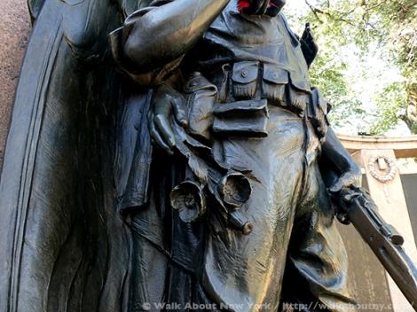 Armistice Day, Bronze, Bronze Sculpture, Veterans, World War One, World War I, Veterans Day, Henry Augustus Lukeman, Prospect Park, War Memorials, November 11th, War, American Holiday, War Dead, War Casualties, Honor Roll, Brooklyn,