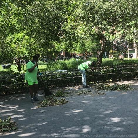 Workers, Laborers, New York, Big Apple, Hard Work, Polish the Big Apple, Washington Square