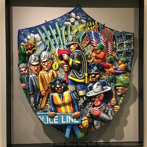 September 11th, 9/11, First Responders, World Trade Center, WTC, Ground Zero, Twin Towers, Walking Tours, Walk About New York, Guided Tours, NYC, I Love NY, Artists, Red Grooms, Art, Police, Firefighters